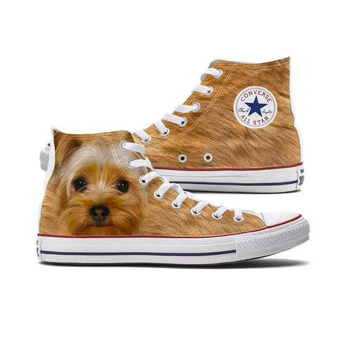 Shoes - Big Face Yorkie Converse High Top Chucks