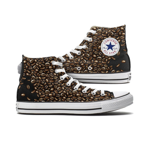Shoes - Coffee Bean Converse High Top Custom Chucks