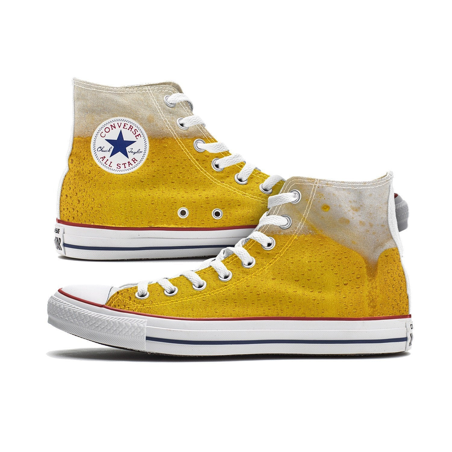 converse yellow high tops