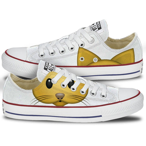 Shoes - Converse Cat Emoji Low Top Chucks