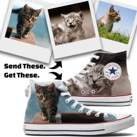 Shoes - Custom Cat Converse High Top Chucks