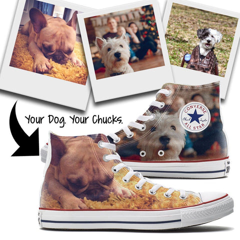 Shoes - Custom Dog Converse High Top Chucks