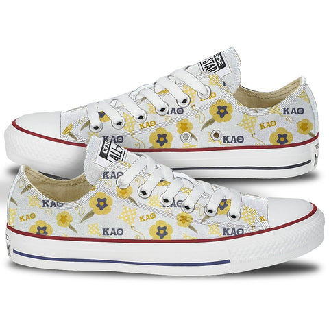 Custom Converse - Kappa Alpha Theta Kite & Pansy Converse Low Top