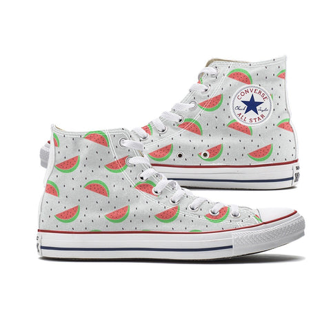 Watermelon Converse High Tops Chucks - Shoes
