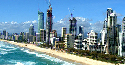 Beach and Buildings, Gold Coast, Australia
