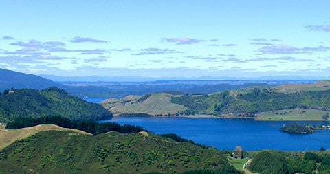 Blue and Green Lakes, Rotorua, New Zealand