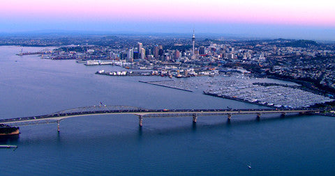 Auckland CBD and Harbour Bridge, New Zealand