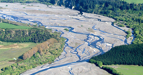 Braided River, South Island, New Zealand