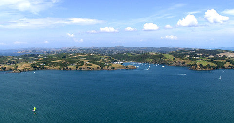 Approaching Waiheke Island, Matiatia Bay, New Zealand