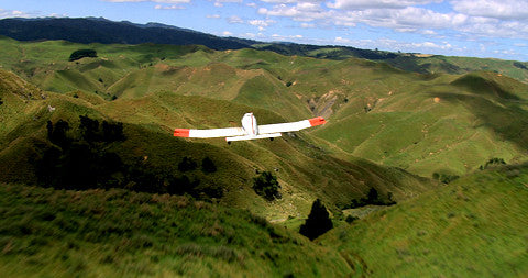 Crop Dusting Plane, Over Waikato, New Zealand