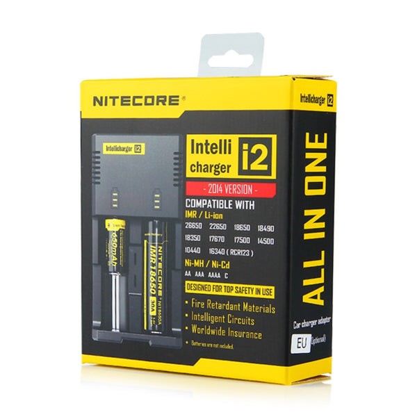 Nitecore i2 Dual Bay Li-ion Intellicharger - Latest Version - charger - Nitecore - My Little Vaporium - MLV Sydney - Australia Vape Shop - Vape & Electronic Cigarettes - E-juices & Mods
