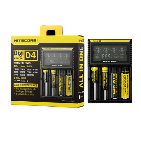 Nitecore D4 Quad Bay LCD Digicharger - charger - Nitecore - My Little Vaporium - MLV Sydney - Australia Vape Shop - Vape & Electronic Cigarettes - E-juices & Mods