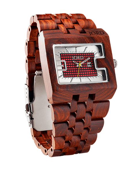 94a Cherry Sandalwood Red Accent Watch