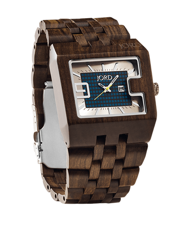 94a Chocolate Sandalwood Blue Accent Watch