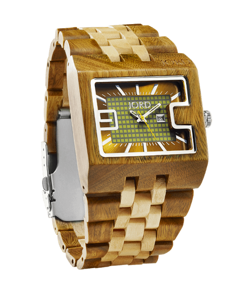 94a Sandalwood & Maple 2-Tone Green Accent Watch