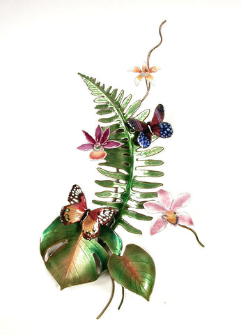 Butterflies, Orchids, Fern