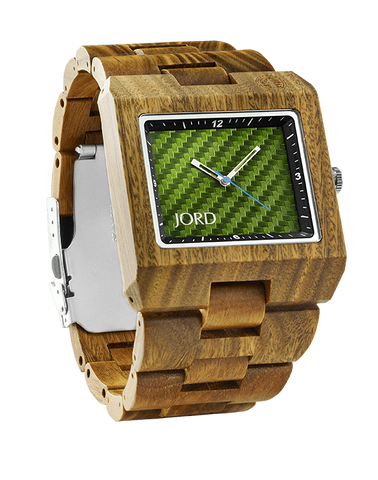 Delmar Sandalwood Green Carbon Fiber Dial Wood Watch