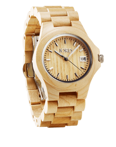 Ely Maple Wood Watch