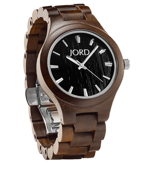 Fieldcrest Chocolate Sandalwood Watch With Black Wood Dial