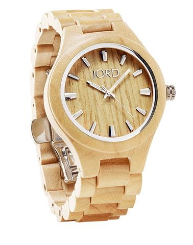 Fieldcrest Maple Wood Watch