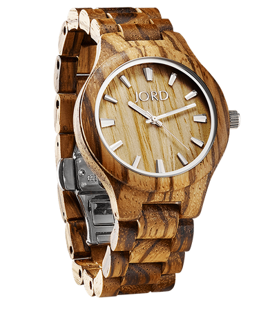 Fieldcrest Zebrawood Watch With Maple Dial