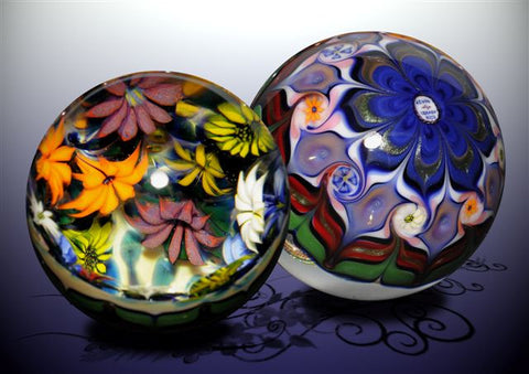Flower Grotto Vortex Glass Marble