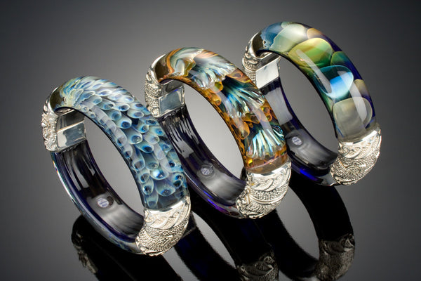 Oceanic Collection Glass Bangle Bracelet
