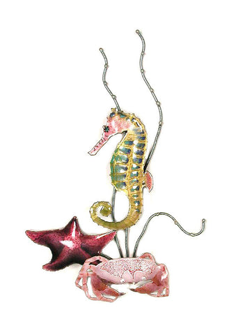 Rainbow Seahorse with Starfish & Crab