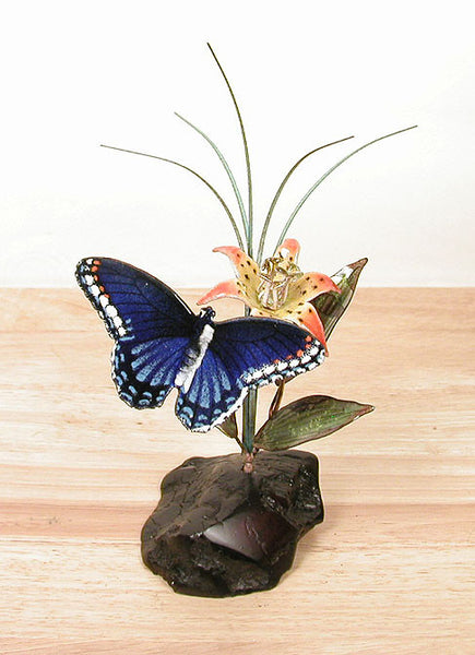 Red Spotted Purple Butterfly on Manzanita