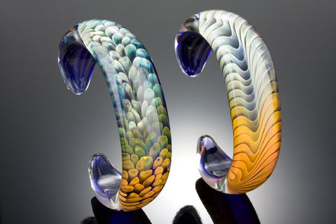 Sea Feather or Ocean Dune Glass Bracelet