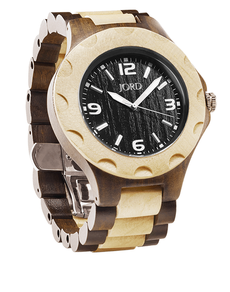 Sully Sandalwood & Maple 2-Tone Cherry Dial Wood Watch