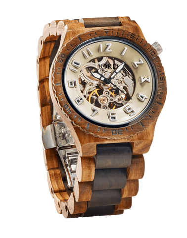Zebrawood & Sandalwood 2-Tone Watch Automatic