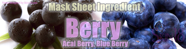 Mask Sheet Ingredient - Berry (Acai Berry, Blue Berry)