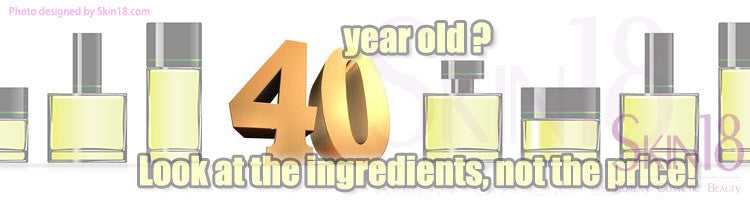 Are you in your forties? Look at the ingredients, not the price!