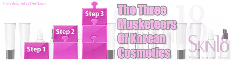 The Three Musketeers Of Korean Cosmetics - All-In-One Three-Step Skin Care Repair