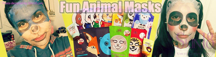 Fun part of Animal Facial Sheet Masks
