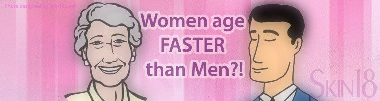 Women appear to age faster than Men of the same age?