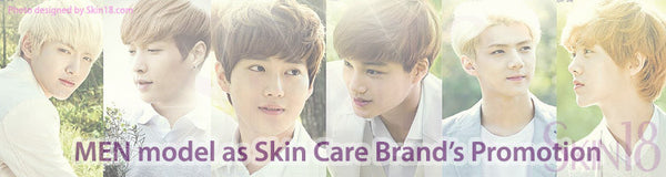Korean Skincare like to use MEN model for promotion