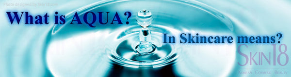 What is AQUA means in Korean cosmetic? Water?