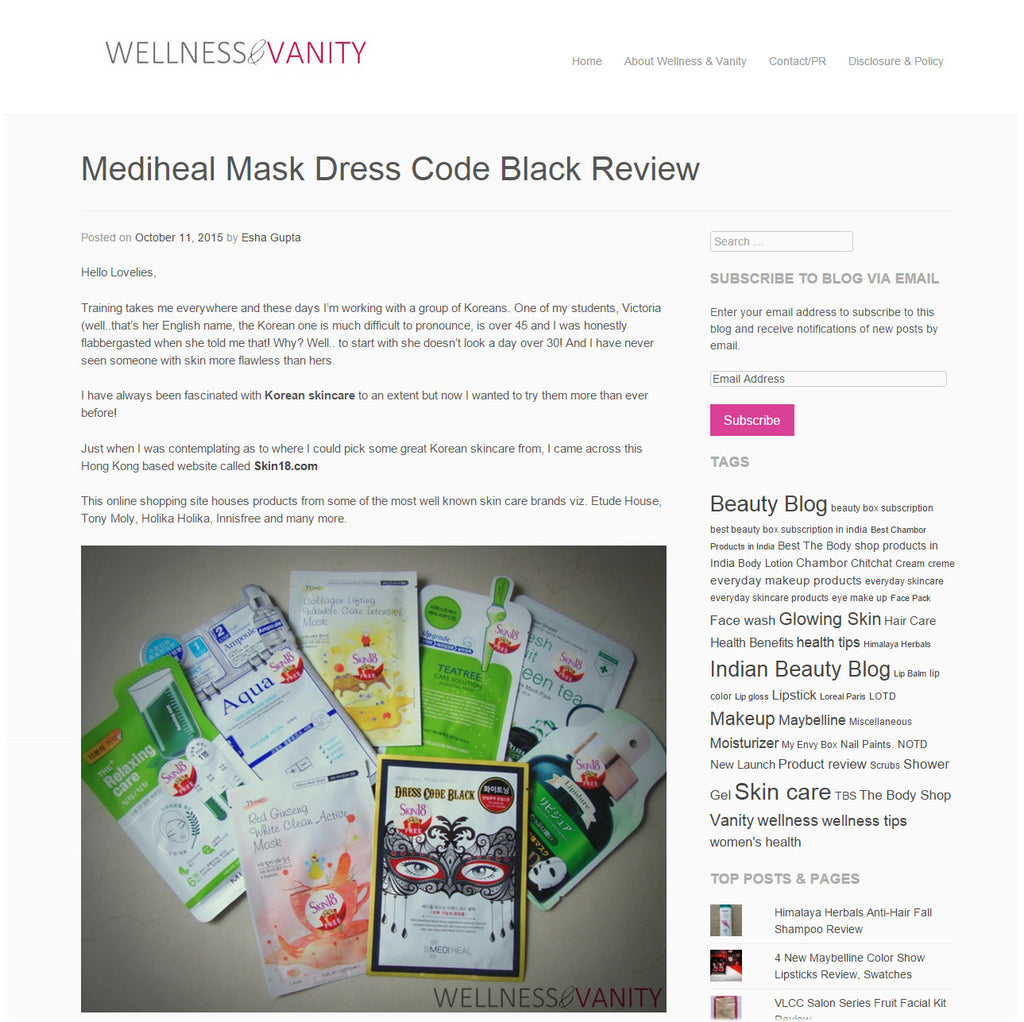 (Blogger : wellnessandvanity.com) Mediheal Mask Dress Code Black Review 1