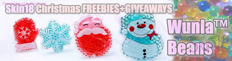 Skin18 Christmas Special FREEBIES + GIVEAWAYS!!!