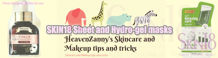 (Blogger : heavenzannysskincareandmakeuptips.wordpress.com) SKIN18 Sheet and Hydro-gel masks 0