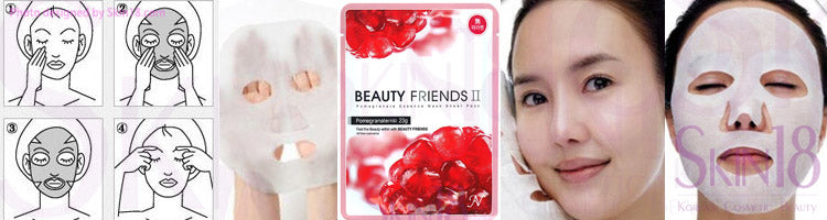 Beauty Friends II Essence Mask Sheet Pack (Pomegranate)