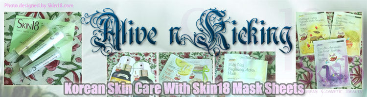 (Blogger : maliveandkicking.blogspot.in) Korean Skin Care With Skin18 Mask Sheets