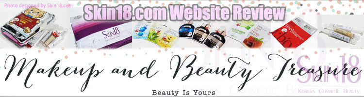 (Blogger : makeupandbeautytreasure.com) Skin18.com Website Review