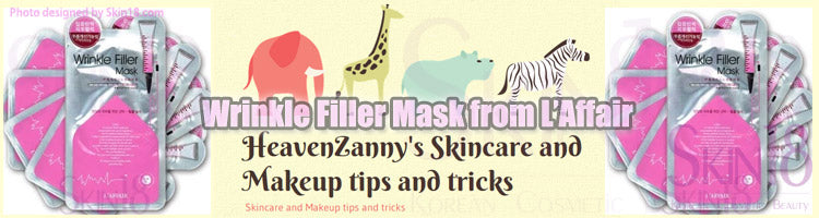 (Blogger : heavenzannysskincareandmakeuptips.wordpress.com)  Wrinkle Filler Mask from L'Affair