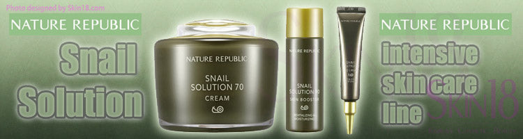 Nature Republic Snail Solution - intensive skin care line