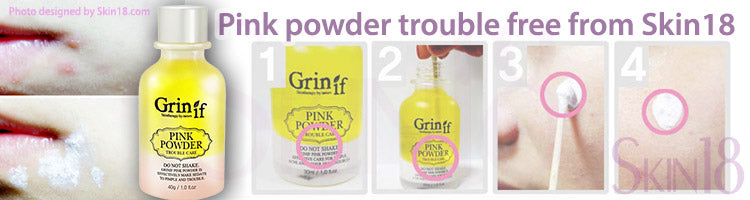 Pink powder trouble free from Skin18