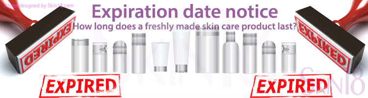 Expiration date notice - How long does a freshly made moisturizer, sheet mask or skin care product last