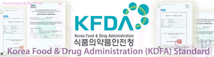 What is Korea Food & Drug Administration (KDFA) Standard for skin care?